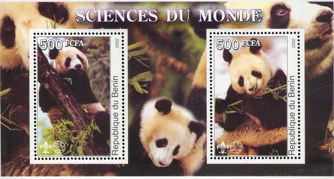 Stamps with Giantpanda, Scouting from Benin (non official) (image for product #030021)