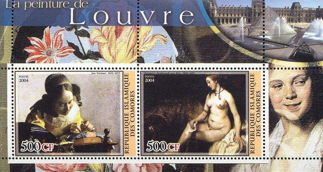 Stamps with Museum, Art, Nude, Vermeer from Comoros (non official) (image for product #030097)