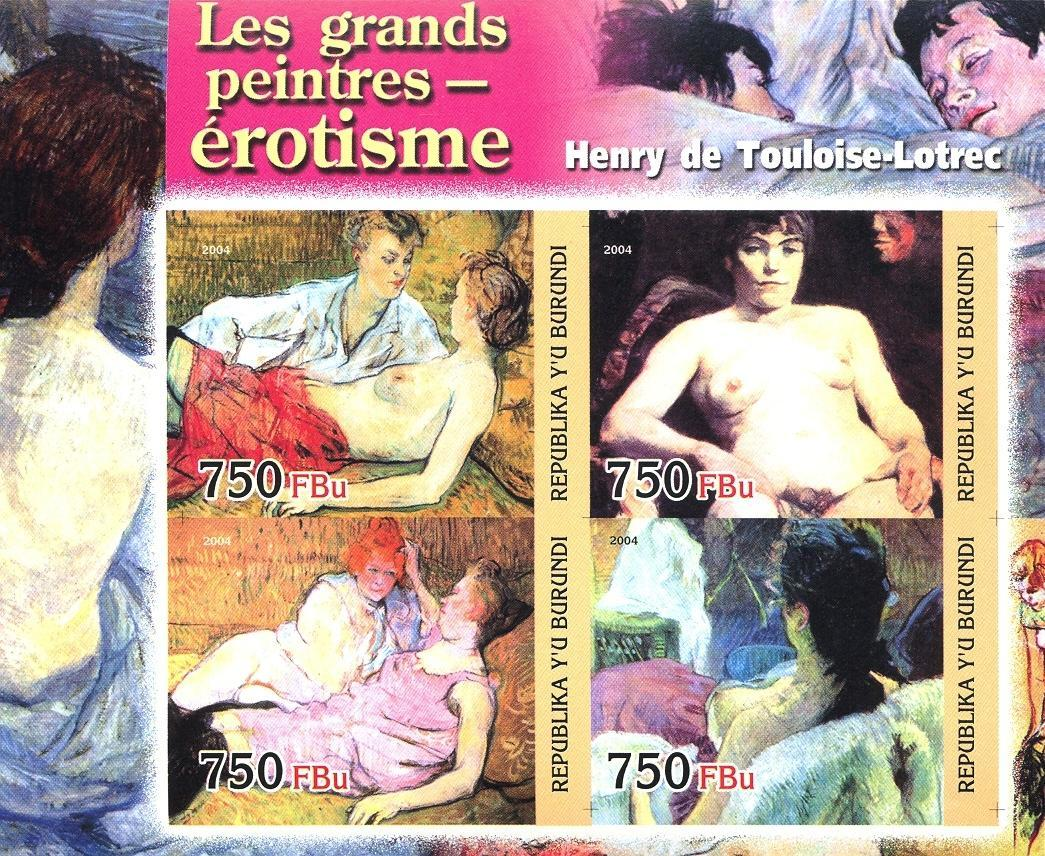 Stamps with Art, Nude from Burundi (non official) (image for product #030187)