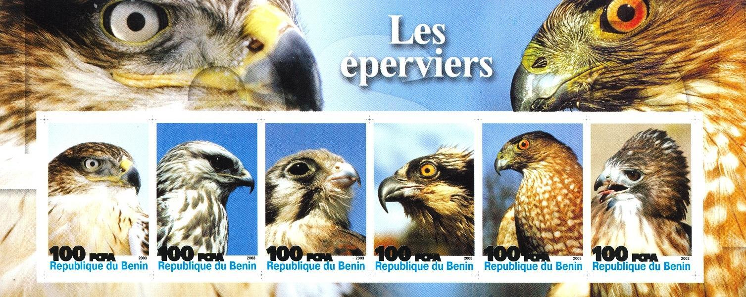 Stamps with Bird from Benin (non official) (image for product #030212)