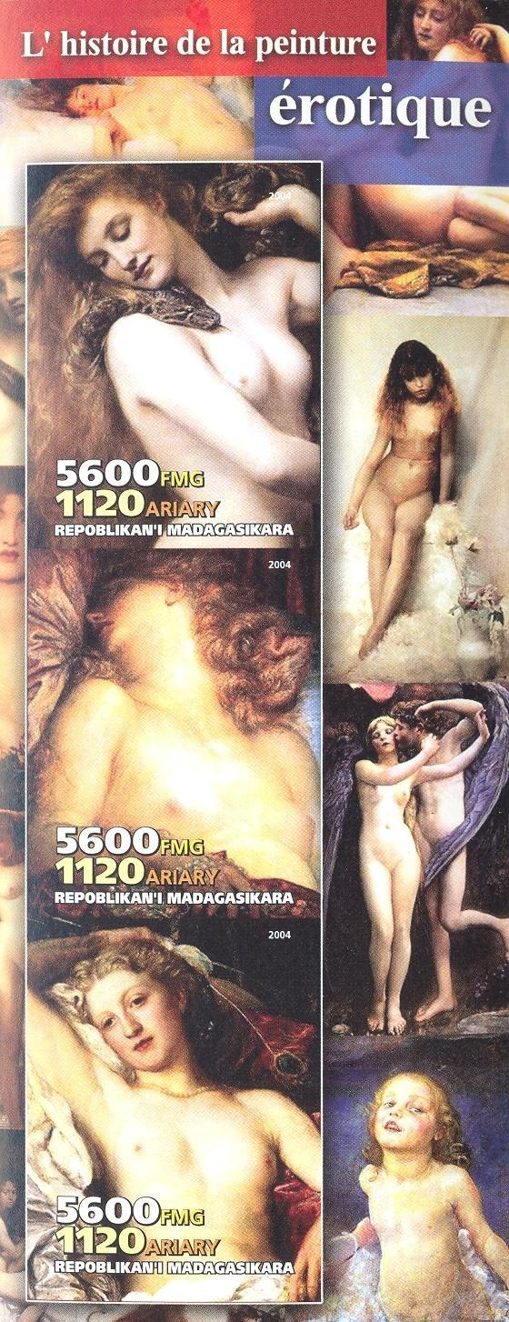 Stamps with Art, Nude from Madagascar (non official) (image for product #030237)