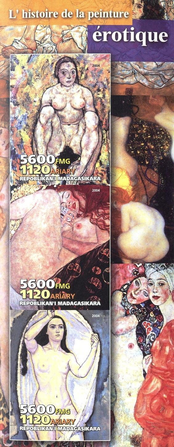 Stamps with Art, Nude from Madagascar (non official) (image for product #030239)