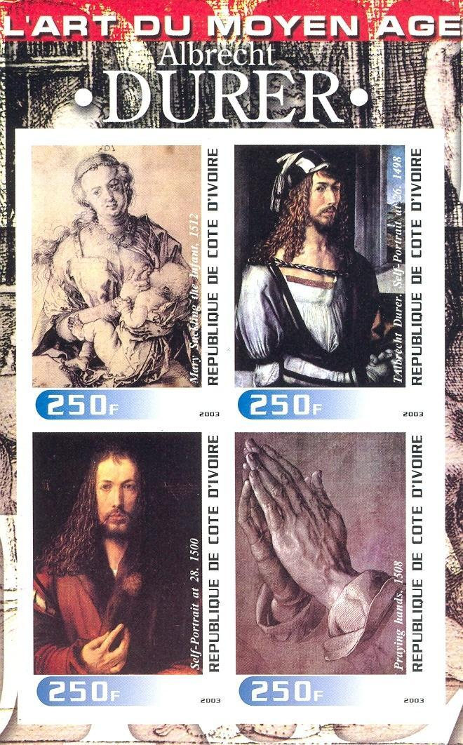 Stamps with Duerer (Albrecht), Art from Cote d'Ivoire (non official) (image for product #030251)