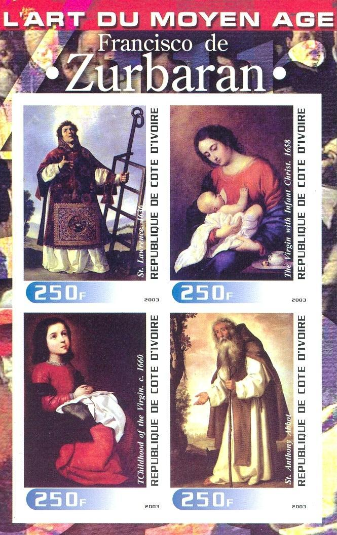 Stamps with Religion, Art from Cote d'Ivoire (non official) (image for product #030258)