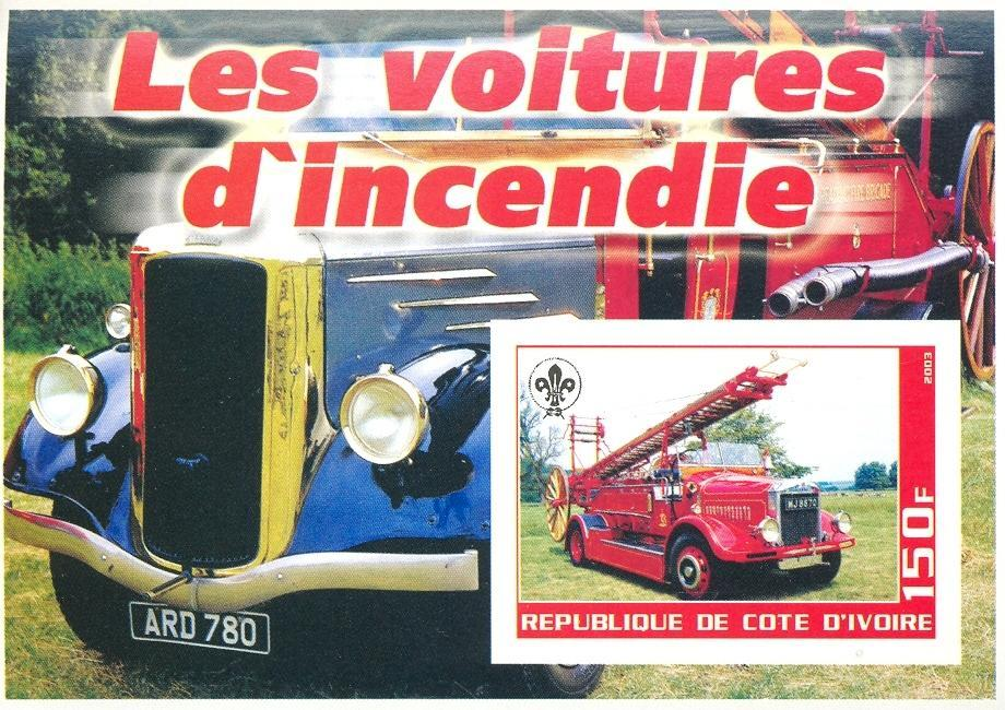 Stamps with Scouting, Firefighters / engines from Cote d'Ivoire (non official) (image for product #030266)
