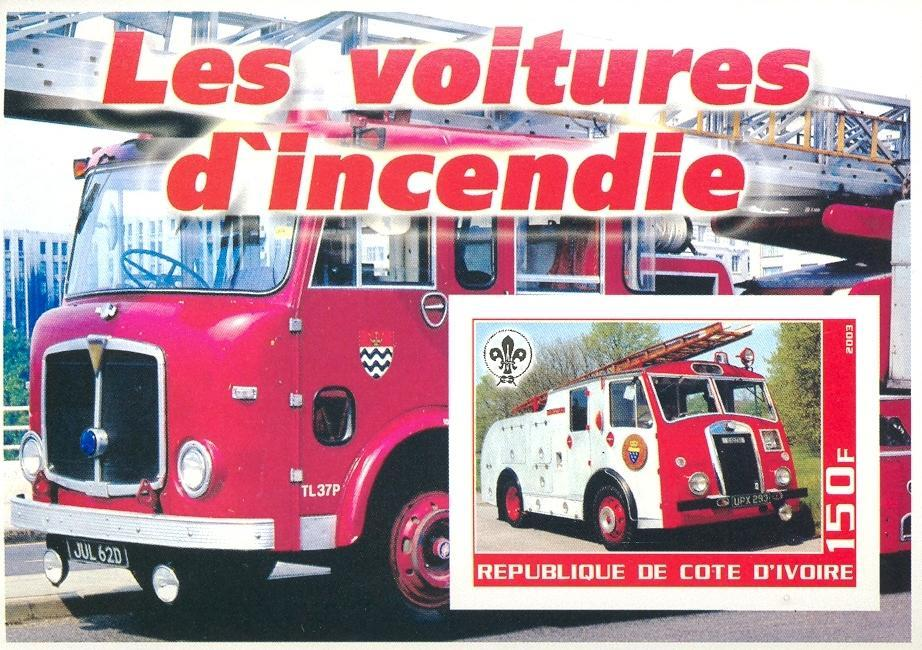 Stamps with Scouting, Firefighters / engines from Cote d'Ivoire (non official) (image for product #030268)