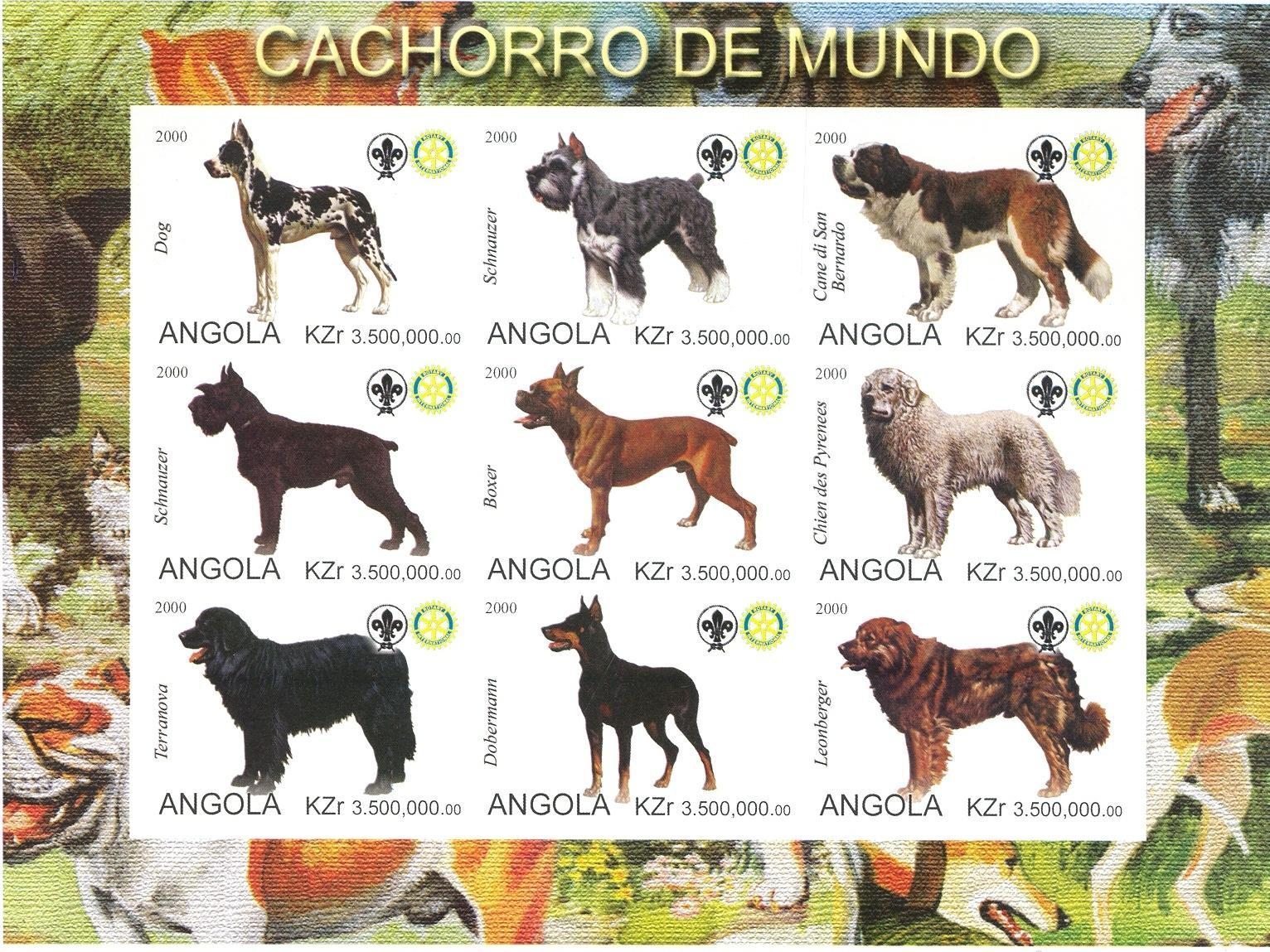 Stamps with Scouting, Dogs, Rotary from Angola (non official) (image for product #030299)