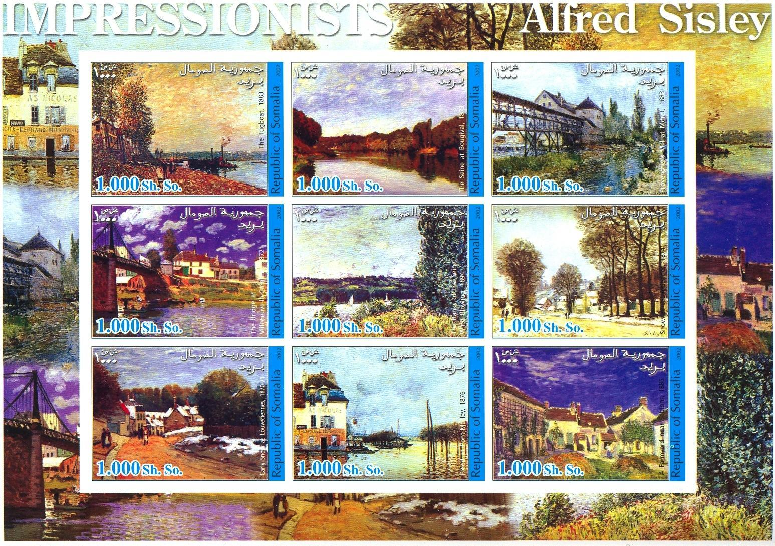 Stamps with Art from Somalia (non official) (image for product #030305)