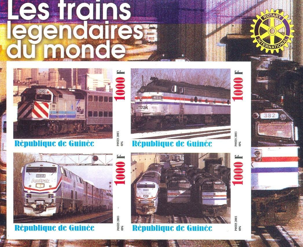 Stamps with Rotary, Train / Railway from Guinea (non official) (image for product #030337)