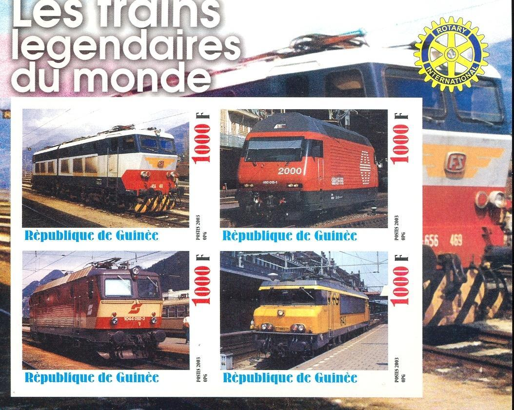 Stamps with Rotary, Train / Railway from Guinea (non official) (image for product #030351)
