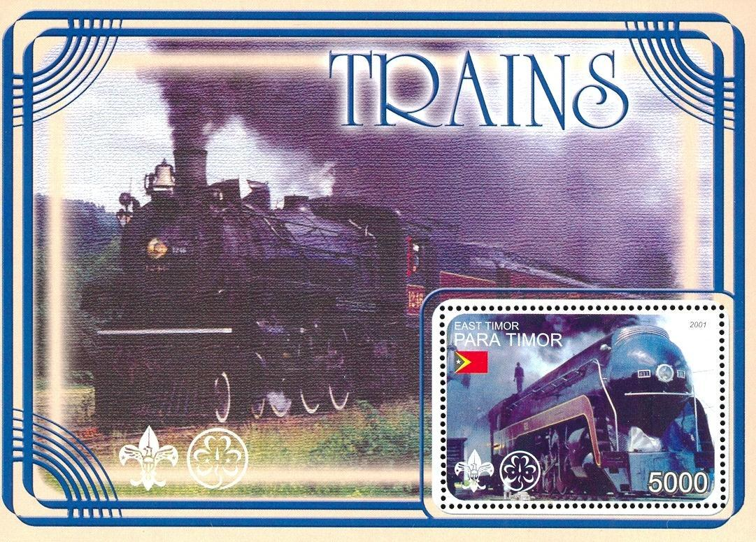 Stamps with Scouting, Train / Railway from  (image for product #030356)