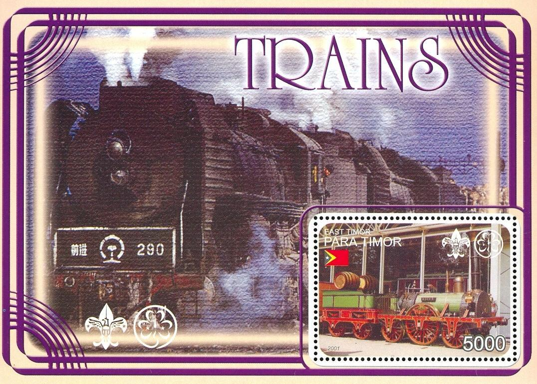 Stamps with Scouting, Train / Railway from  (image for product #030357)