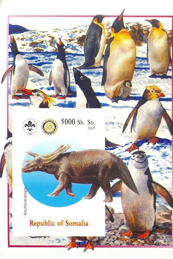 Stamps with Scouting, Dinosaurs, Penguin, Rotary from Somalia (non official) (image for product #030378)