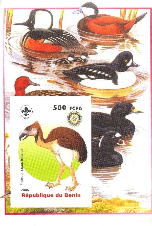 Stamps with Bird, Scouting, Prehistory, Rotary, Ducks from Benin (non official) (image for product #030383)