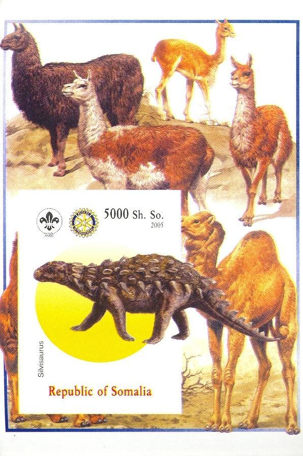 Stamps with Scouting, Dinosaurs, Camel, Prehistory, Rotary from Somalia (non official) (image for product #030384)