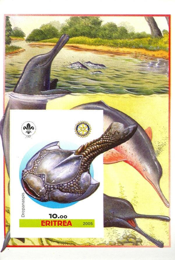 Stamps with Scouting, Prehistory, Rotary, Dolphin from Eritrea (non official) (image for product #030396)