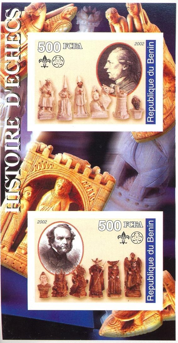 Stamps with Chess, Rotary, Scouting from Benin (non official) (image for product #030409)