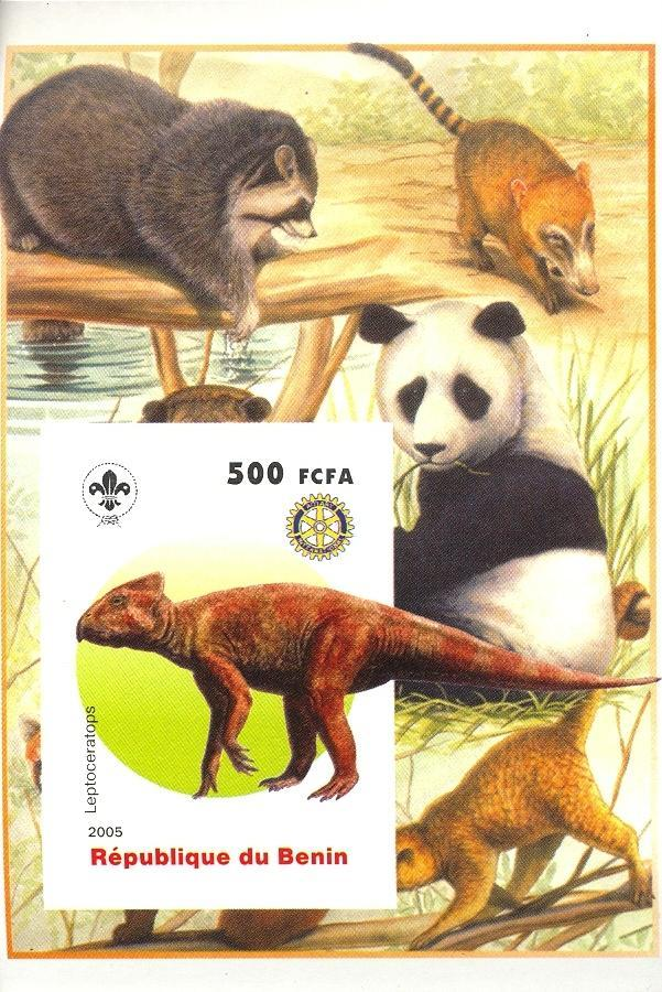 Stamps with Scouting, Dinosaurs, Rotary, Giantpanda, Raccoon from Benin (non official) (image for product #030412)