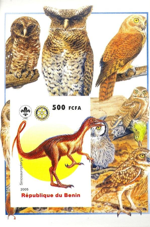 Stamps with Scouting, Dinosaurs, Owl, Rotary from Benin (non official) (image for product #030413)