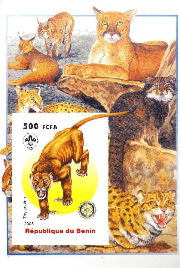 Stamps with Scouting, Cat-like, Prehistory, Rotary from Benin (non official) (image for product #030414)