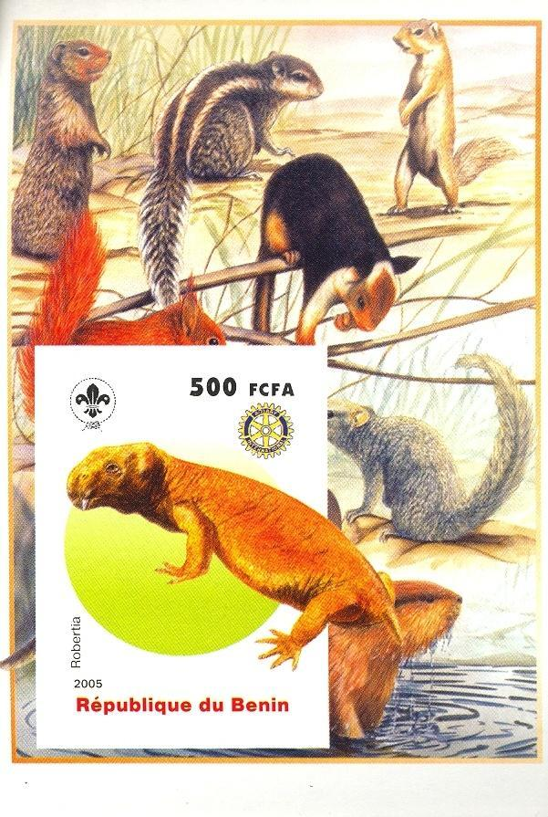 Stamps with Scouting, Dinosaurs, Rotary, Squirrel from Benin (non official) (image for product #030415)