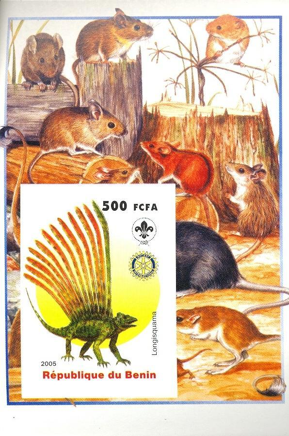 Stamps with Scouting, Dinosaurs, Rotary, Rodents from Benin (non official) (image for product #030416)