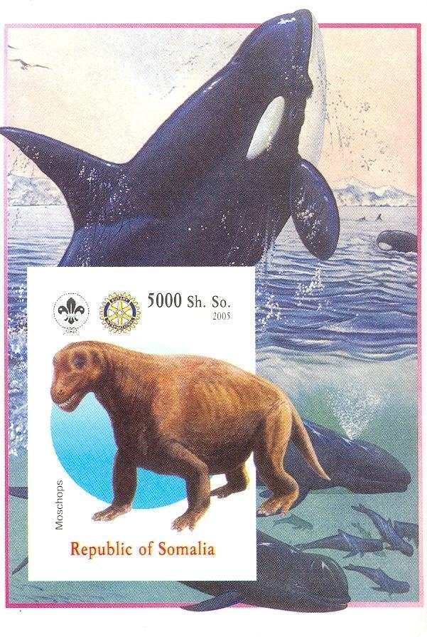 Stamps with Scouting, Dinosaurs, Rotary, Whale from Somalia (non official) (image for product #030429)