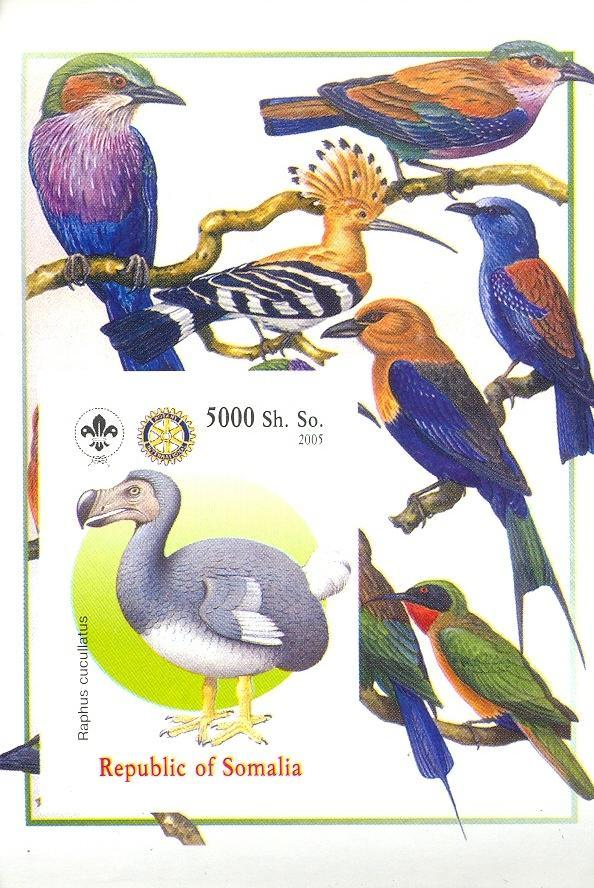 Stamps with Bird, Scouting, Dinosaurs, Rotary from Somalia (non official) (image for product #030433)