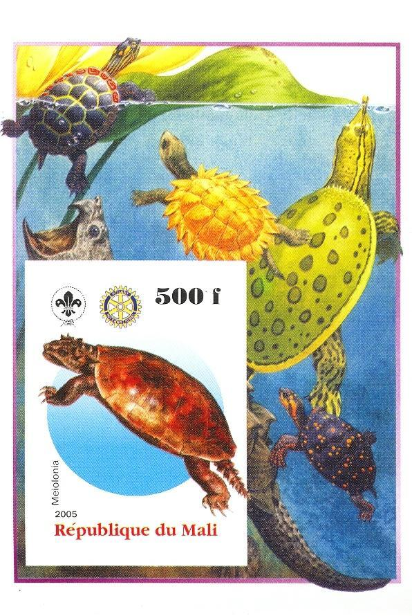 Stamps with Scouting, Dinosaurs, Rotary, Turtle, Reptiles from Mali (non official) (image for product #030436)