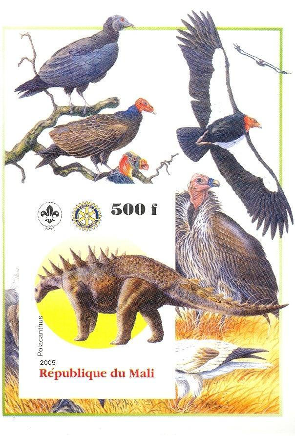 Stamps with Bird, Scouting, Dinosaurs, Rotary from Mali (non official) (image for product #030439)