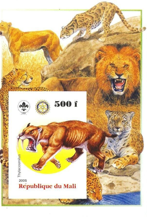 Stamps with Scouting, Dinosaurs, Rotary, Leopard, Lion from Mali (non official) (image for product #030441)