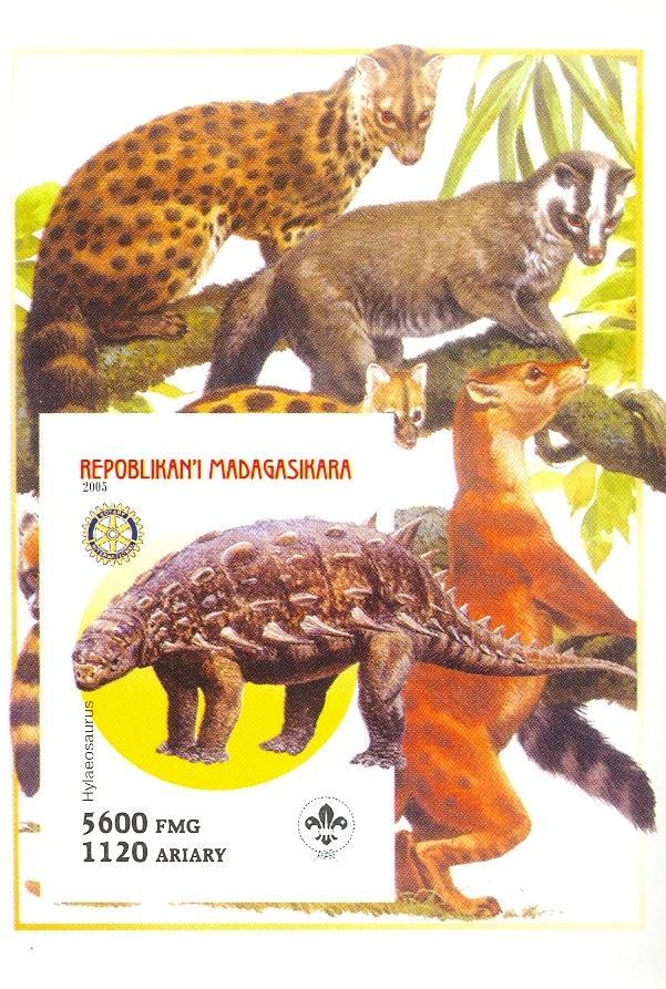 Stamps with Scouting, Dinosaurs, Rotary from Madagascar (non official) (image for product #030442)