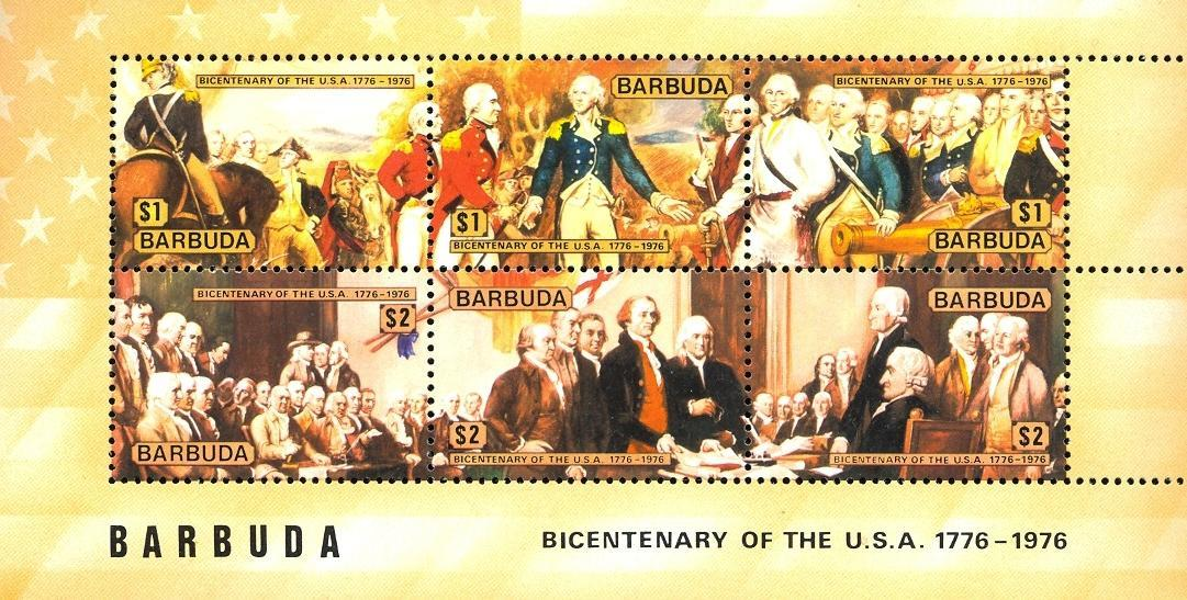 Stamps with USA, Horse from Barbuda (image for product #030485)