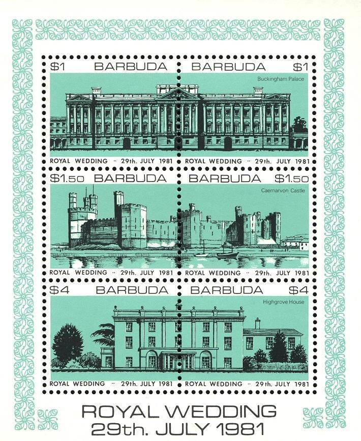 Stamps with Architecture, Royalty from Barbuda (image for product #030487)