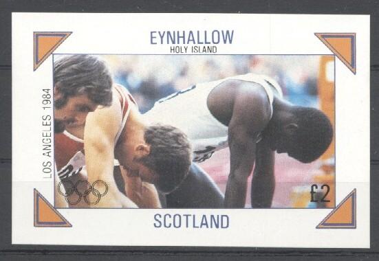 Stamps with Athletics, Olympic Games from Eynhallow (non official) (image for product #030504)