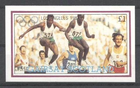Stamps with Athletics, Olympic Games from Gairsay (non official) (image for product #030511)