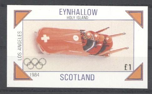 Stamps with Bobsleigh, Olympic Games from Eynhallow (non official) (image for product #030516)