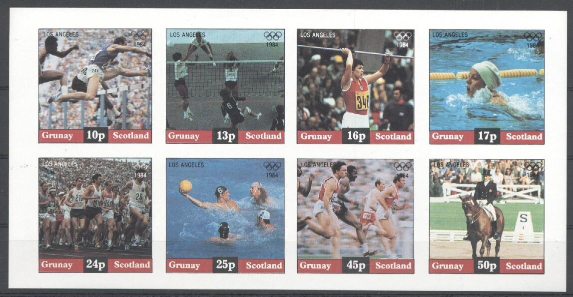 Stamps with Olympic Games, Horse, Volleyball, Waterpolo from  (image for product #030520)
