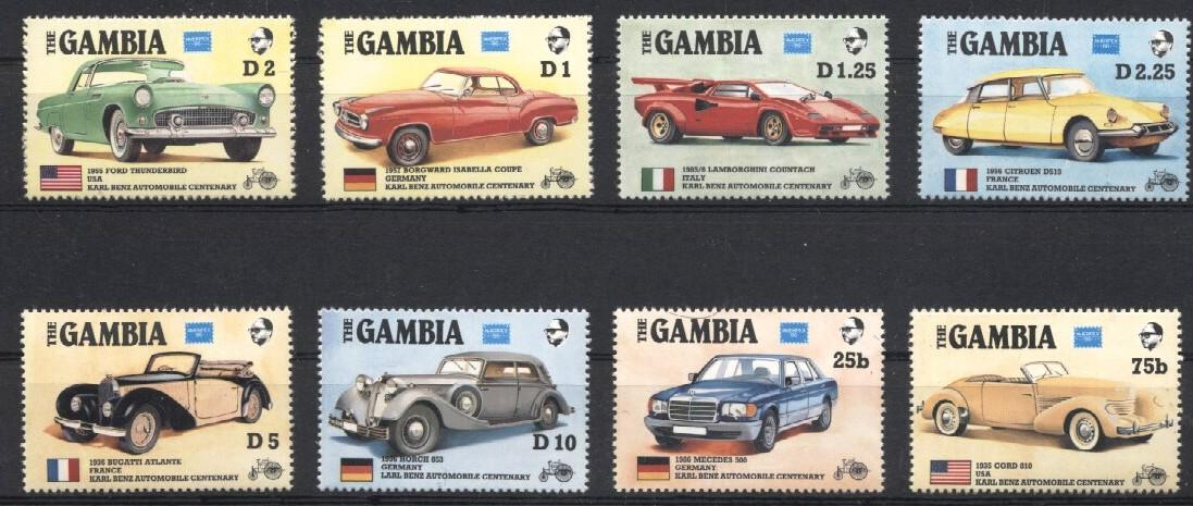 Stamps with Cars, Oldtimers, Citroen from Gambia (image for product #030529)