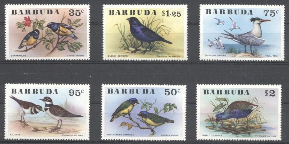 Stamps with Bird from Barbuda (image for product #030532)
