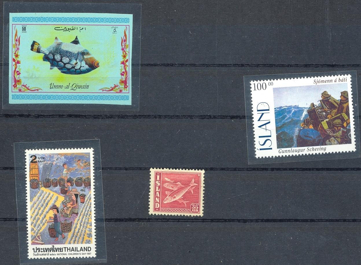 Stamps with Fish from World (image for product #030566)