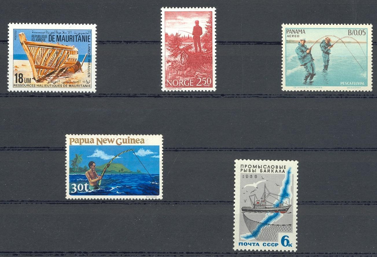 Stamps with Fishing, Ship from World (image for product #030586)