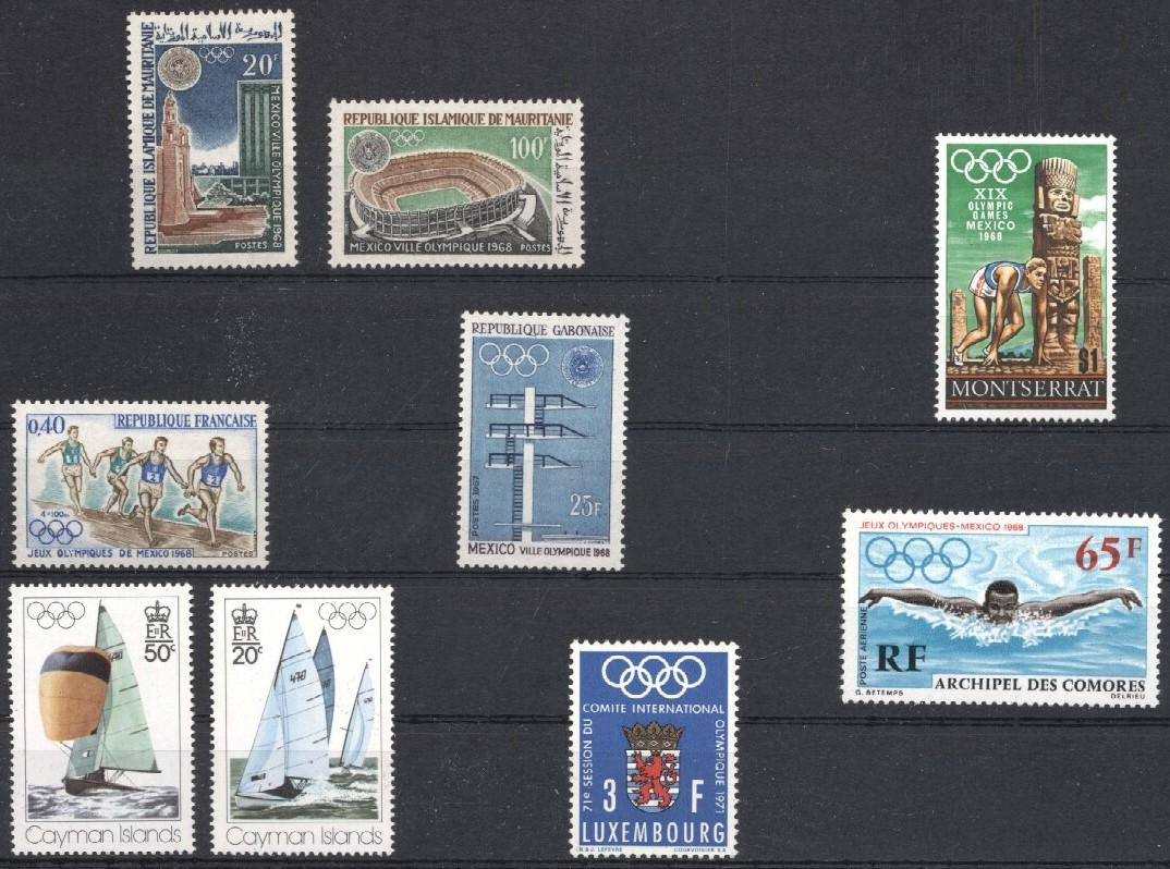 Stamps with Olympic Games, Archaeology, Sailing from World (image for product #031367)