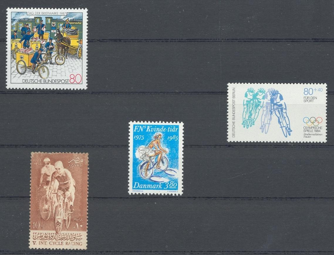 Stamps with Bicycle from World (image for product #031475)
