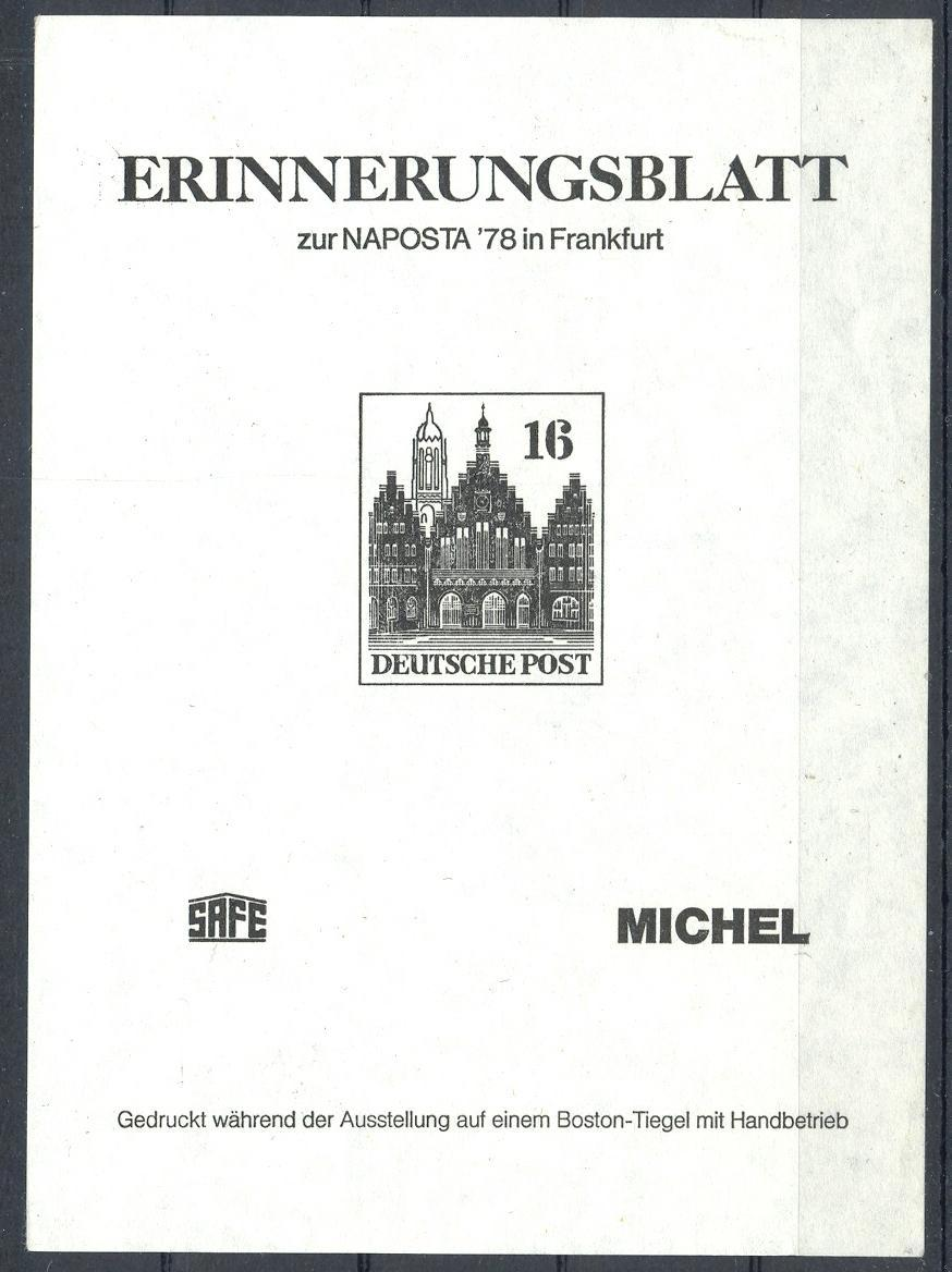 Stamps with Philatelic Exhibition, Architecture from Germany (image for product #031685)