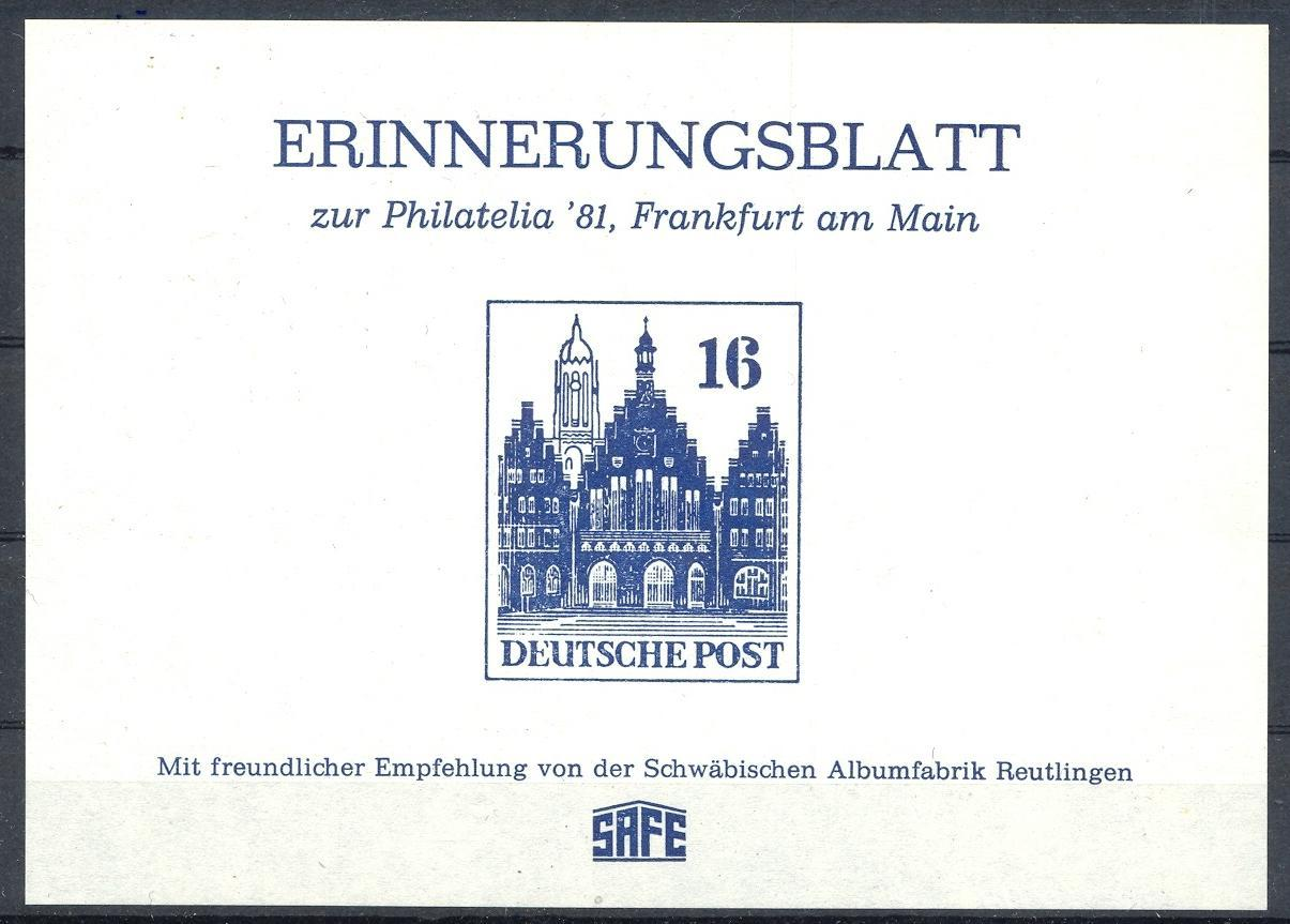 Stamps with Architecture, Philatelic Exhibition from Germany (image for product #031686)