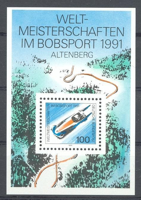 Stamps with Bobsleigh from Germany (image for product #031814)