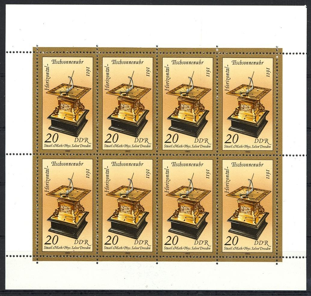 Stamps with Clock from Germany (DDR) (image for product #031895)