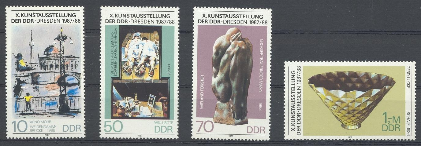 Stamps with Sculpture, Art from Germany (DDR) (image for product #031928)