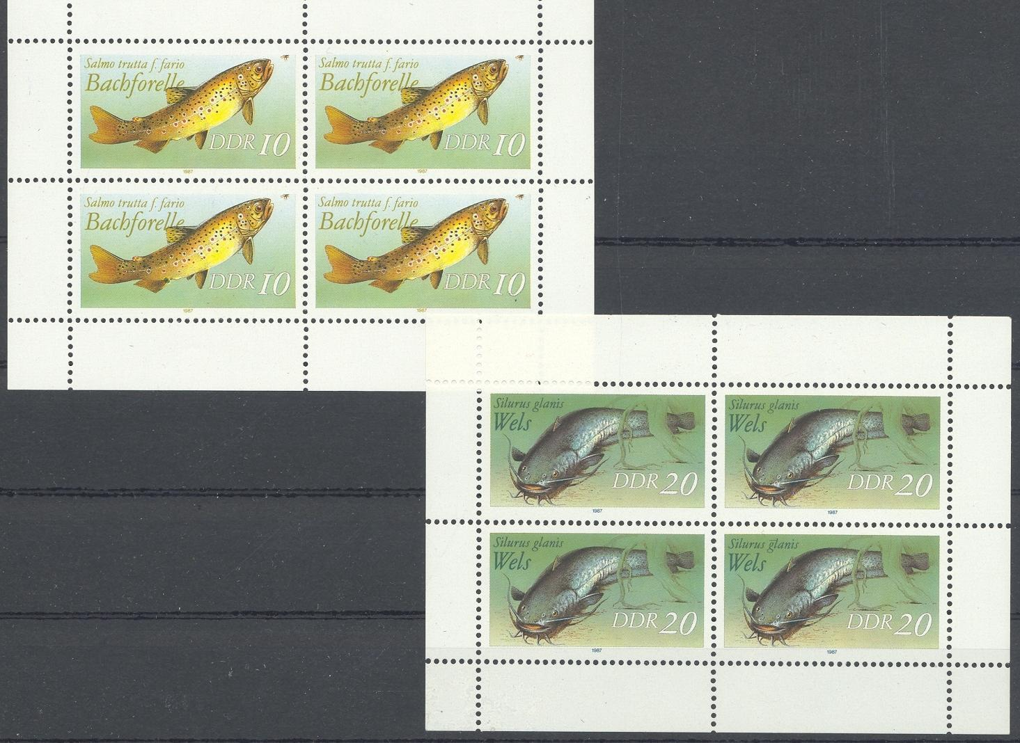 Stamps with Fish from Germany (DDR) (image for product #031954)